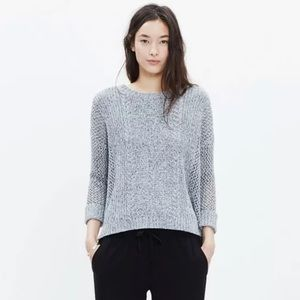 Madewell Sweater Marled Plaza Pullover Open Knit